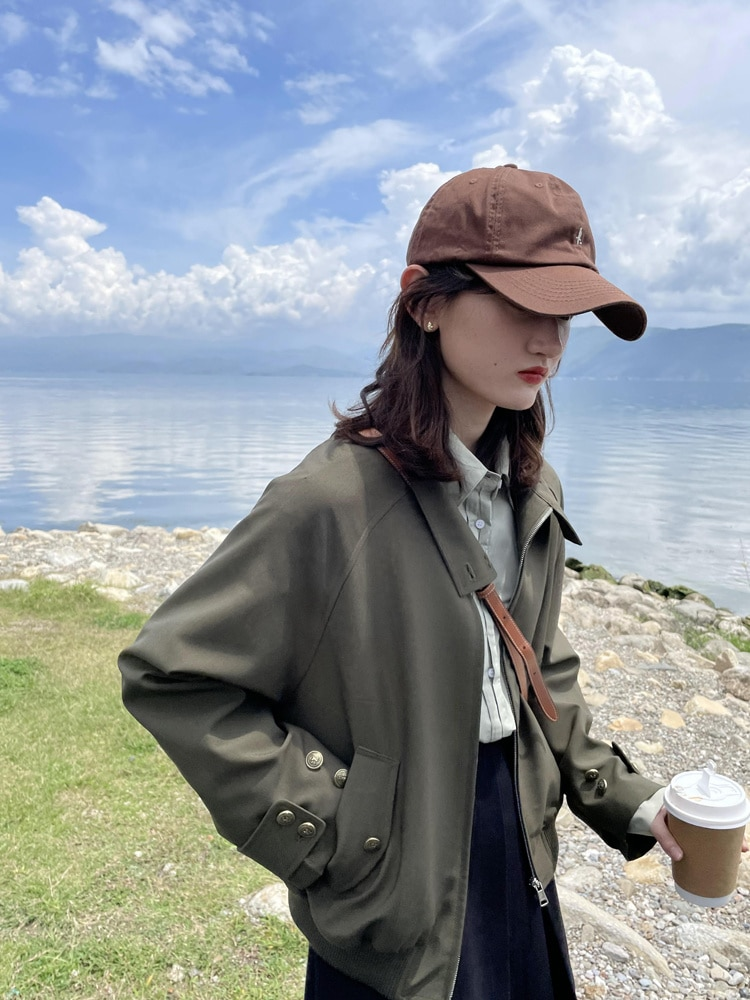 Jacket Coat Women's Spring And Autumn New High Sense Fried Street Short, Small Raglan Sleeve Jacket