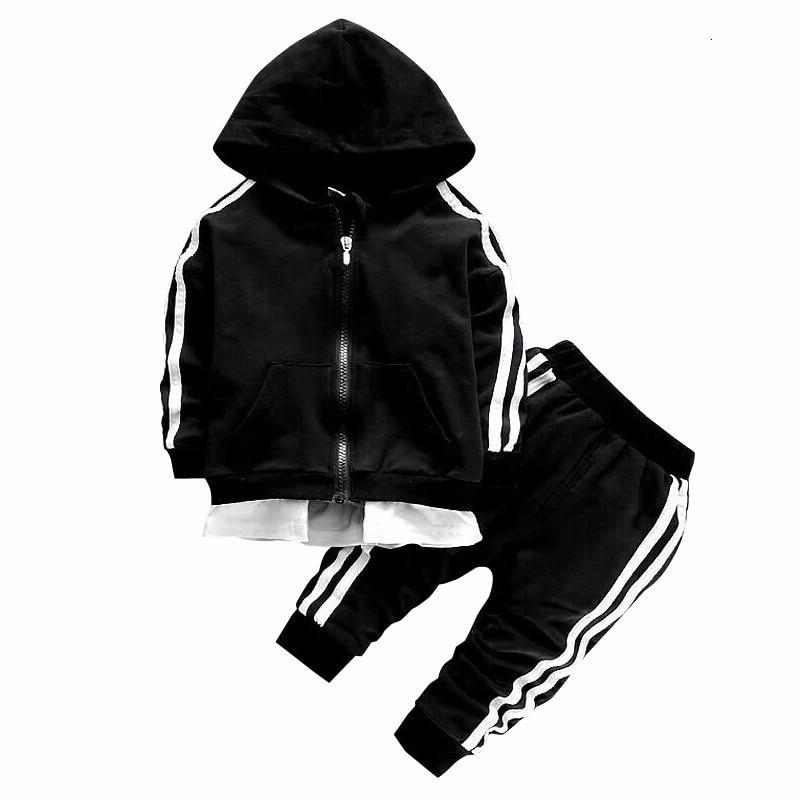2021 Spring Baby Casual Tracksuit Children Boy Girl Cotton Zipper Jacket Pants 2Pcs/Sets Kids Leisure Sport Suit Infant Clothing