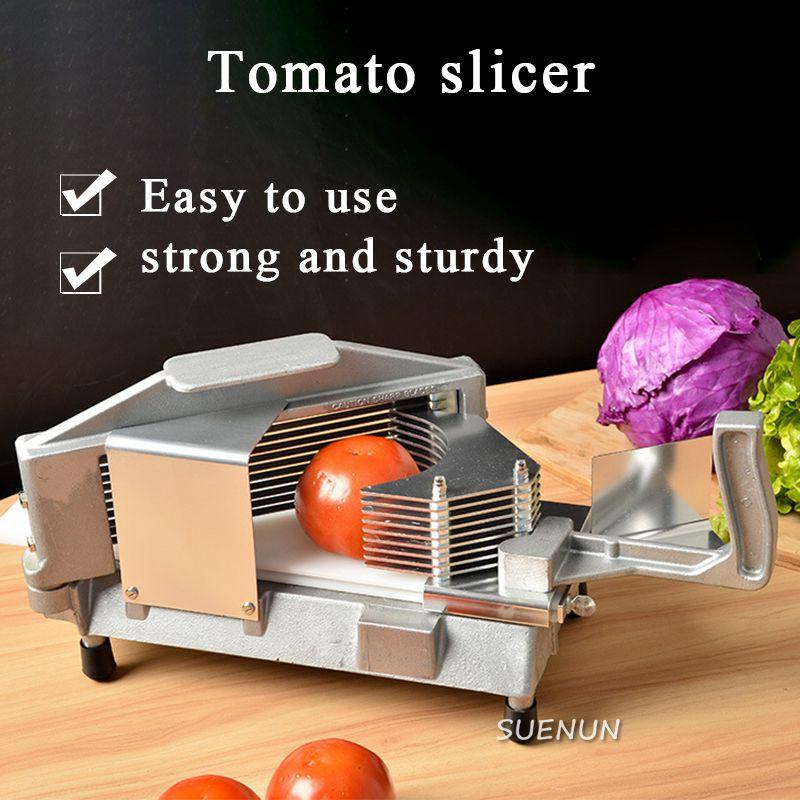 استخدام المنزل التجاري أداة تقطيع الطماطم الفولاذ المقاوم للصدأ الطماطم تقطيع دليل تقطيع الفاكهة المواد آلة تقطيع أدوات مطبخ