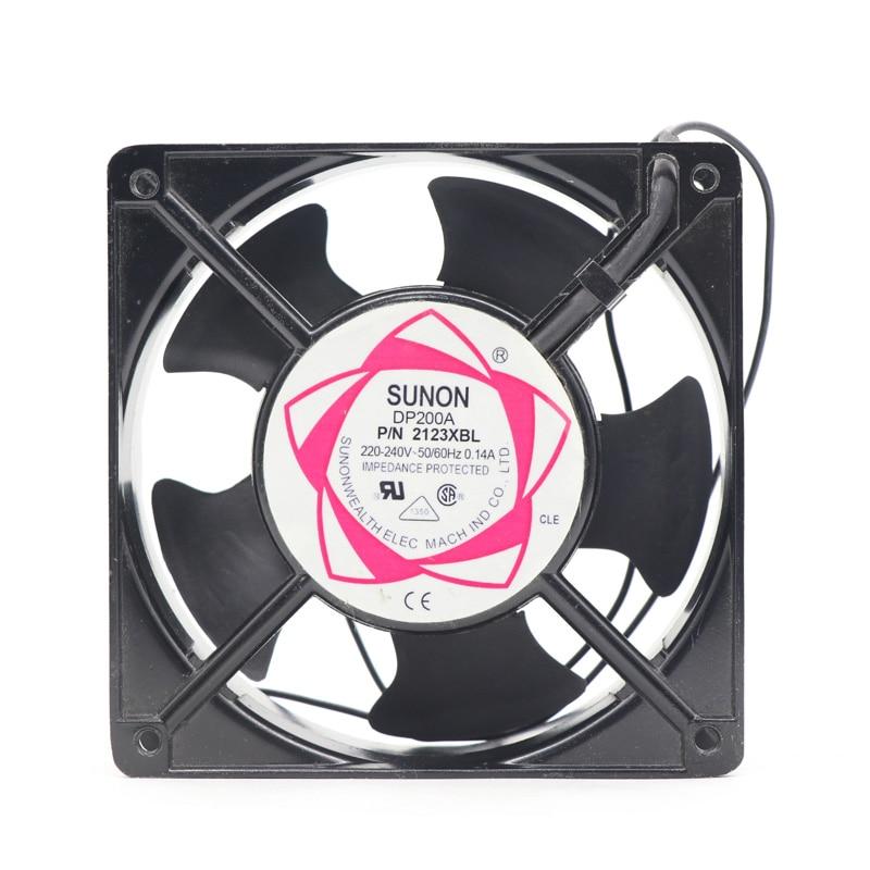 شحن مجاني SUNON DP200A 2123XBL 220 فولت التيار المتناوب 12038 120*120*38 مللي متر محوري تدفق مروحة خزانة التبريد