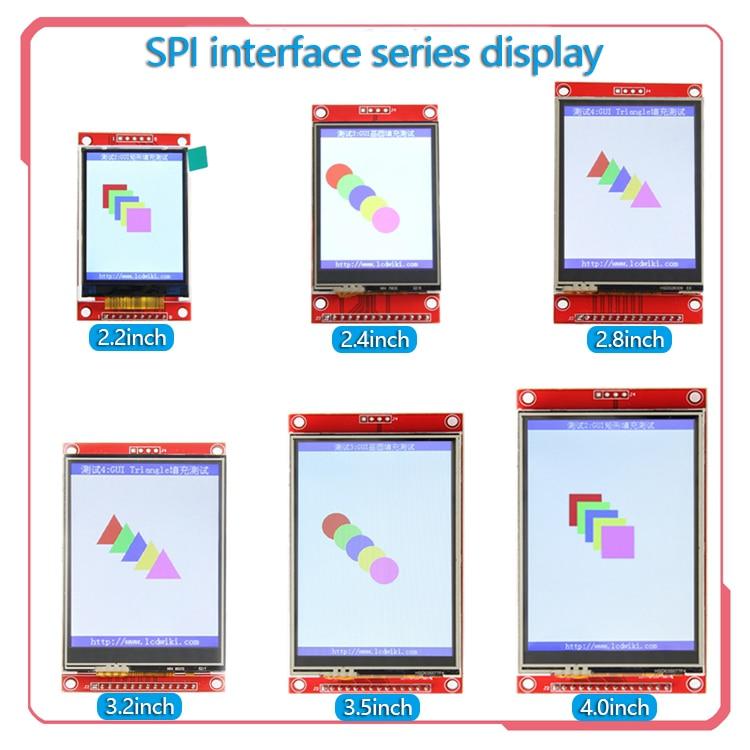 SPI serial port seriesctouch  2.2/2.4/2.8/3.2/3.5/4.0 inch TFT LCD  screen module  for   stm32 Development Board