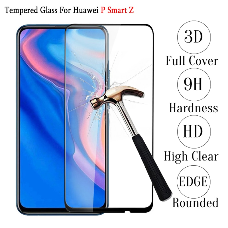 3D protectora de vidrio para Huawei P Smart Z cubierta completa de vidrio templado para Huawei Psmart Z Psmartz 64gb Global Film Protector de pantalla