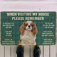 3d please remember king charles spaniel house rules custom doormat non slip door floor mats decor porch funny home indoor rug