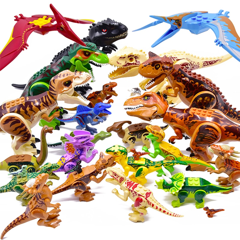 Jurassic 2 Building Blocks World Dinosaurs Figures Bricks Assemble Kids Toys Tyrannosaurus Rex Indominus Rex I-Rex