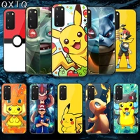 qxtq cute p pokemones tempered glass phone case cover for samsung galaxy note s 9 10 20 21 e plus ultra m 31 51 fe painting