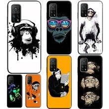 Cartoon Monkey Case For Xiaomi Mi 10T 9T Pro 9 10 Lite Mi A3 Note 10 Lite Case For POCO X3 F1 F2 Pro