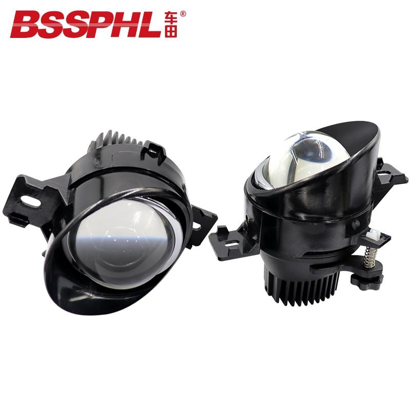 BSSPHL, luz LED antiniebla bi-xenón HD 3,0 para retroinstalación de estilo de coche, lente apta para Dongfeng Nissan March 10-x-trail 14-15 Qashqai 07-