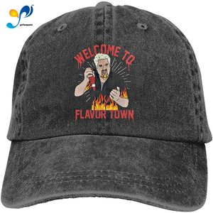 Guy Fieri Welcome to Flavortown Adult Cowboy Hat Cool Adjustable Casquette Cap Black