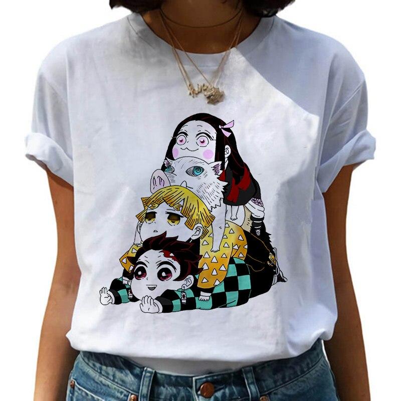 Camiseta divertida de Anime japonés Kimetsu No Yaiba Demon Slayer, camisetas superiores de gráficos, camiseta de Streetwear Punk, ropa para hombres y mujeres