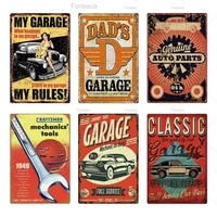 garage metal sign shabby chic vintage style plaque wall art decor for garage car repair man cave tin plates iron painting