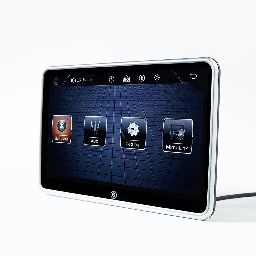 Monitor Ultra fino de 10,1 pulgadas para reposacabezas de coche, reproductor MP5, enlace de espejo, Android, FM, HD, pantalla de vídeo con USB de 1080P/SD, reproductor Multimedia