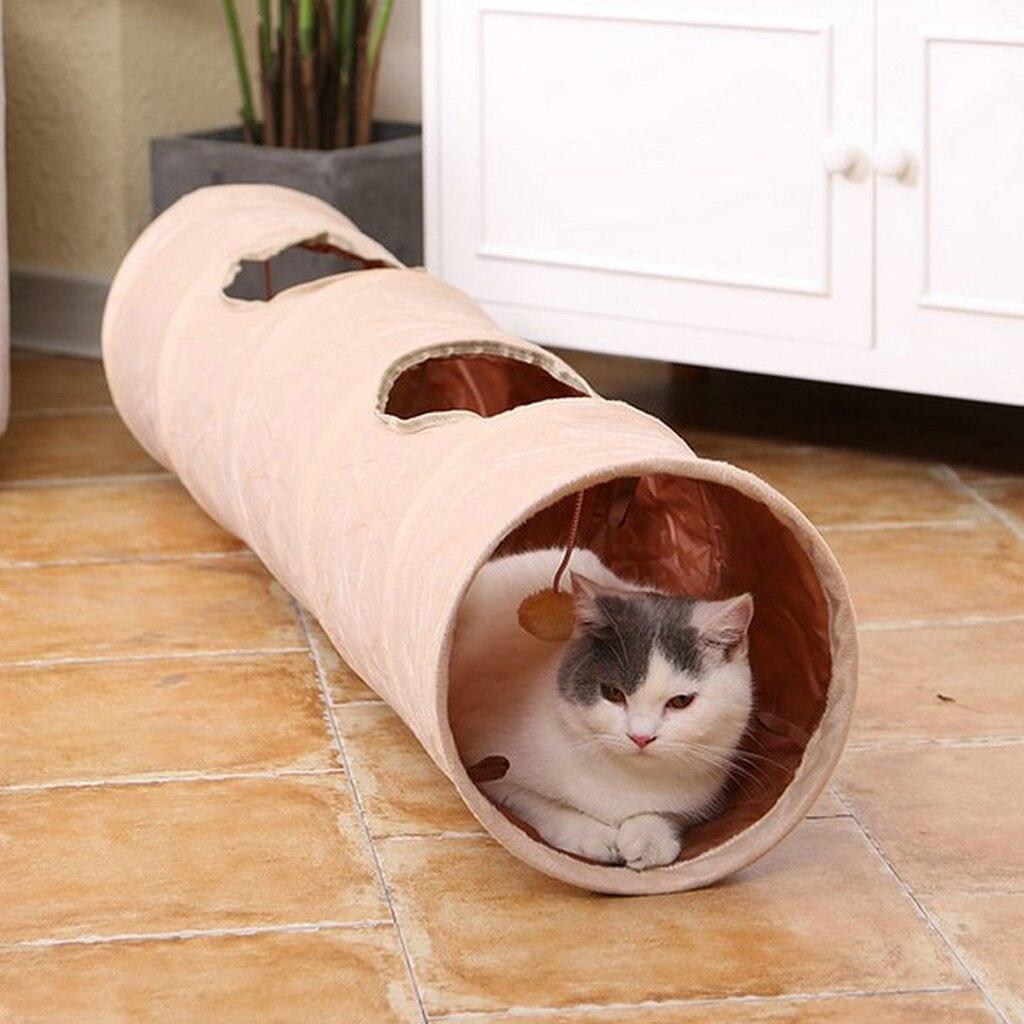 Забавная плюшевая игрушка-туннель для кошек, игрушка-головоломка для домашних животных, игрушка-туннель для кошек, щенков, кроликов, забавн...