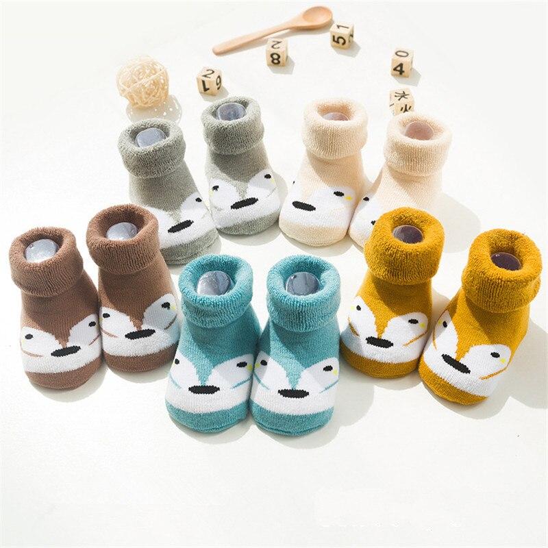 5 pares lote bonito do bebe meias de algodao quente do inverno recem nascido para