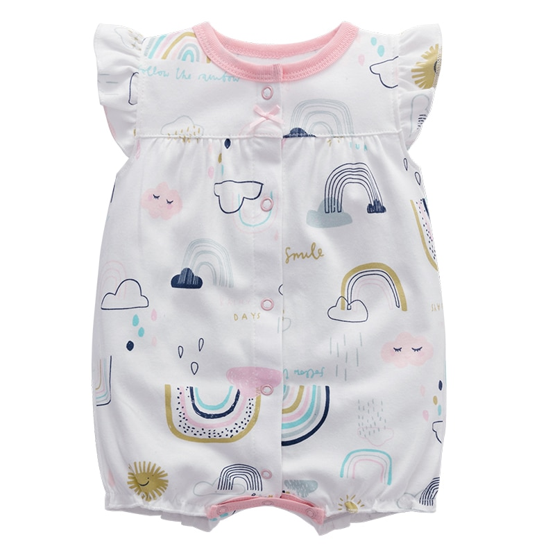 2020 new baby girls cotton romper sling robe and boys print jumpsuit for newborn children kids summer clothes Baby Boys Girls Romper Cotton Short Sleeve Jumpsuit Infant Clothing Summer Newborn Baby Clothes