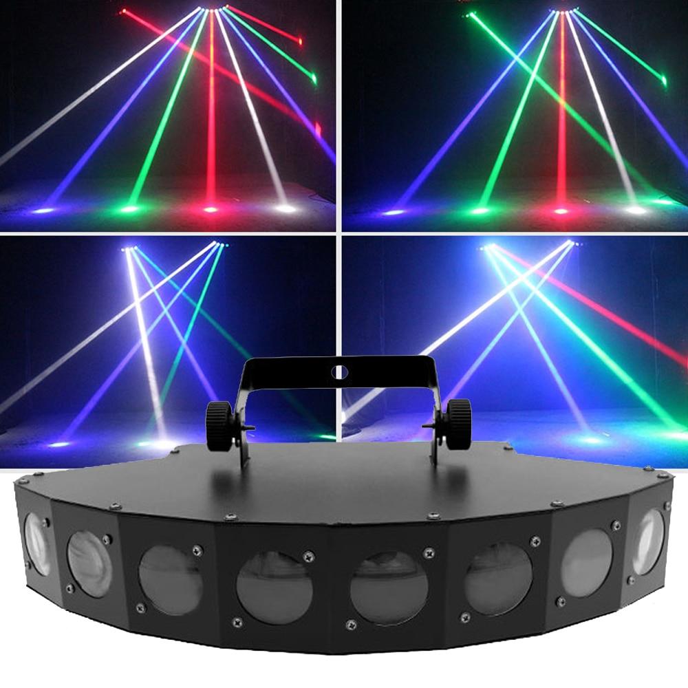 Free Shipping Eight Beam Scanner Fan Beam DJ Bar Light Beam Laser RGBW Scanner Club Disco Light Eight Eyes LED Beam Party Light
