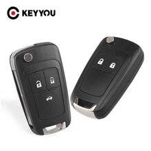 KEYYOU para Opel Vauxhall Zafira Astra Insignia 2/3/4/5 botones reemplazo remoto llave caso HU100 Flip Key Shell Fob cubierta en blanco