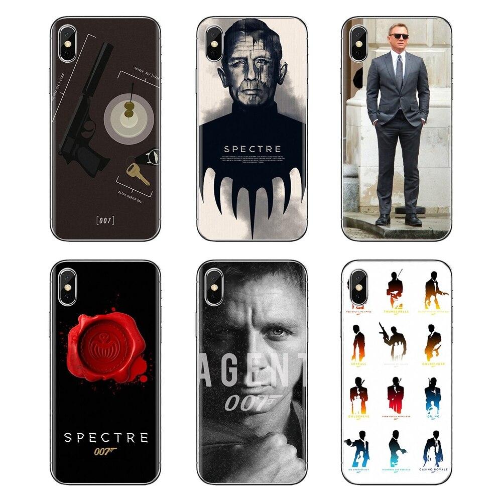 Casos de teléfono de JAMES BOND 007 Skyfall espectro para iPhone XS Max XR X 4 4S 5 5S 5C SE 6 6S 7 8 Plus, Samsung Galaxy J1 J3 J5 J7 A3 A5