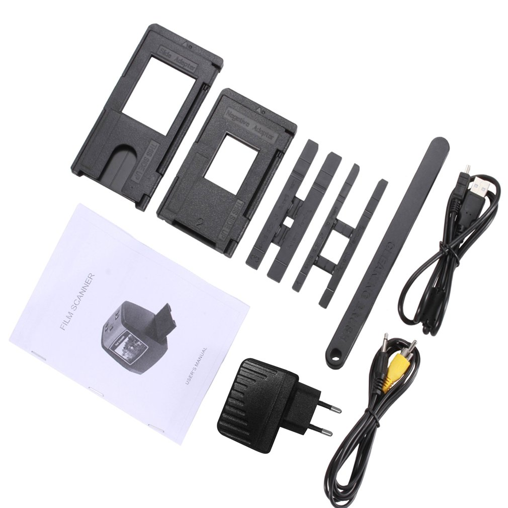 Enchufe de la UE cámara de película de 14MP portátil tarjeta SD escáner de película de escaneo de fotos película negativa escáner de diapositivas USB MSDC película convertidor