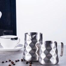 Pichet à lait en acier inoxydable, prismatique, conçu pour faire mousser le lait, pichet à lait, café expresso, Barista, fabrication artisanale de crème au lait Cappuccino