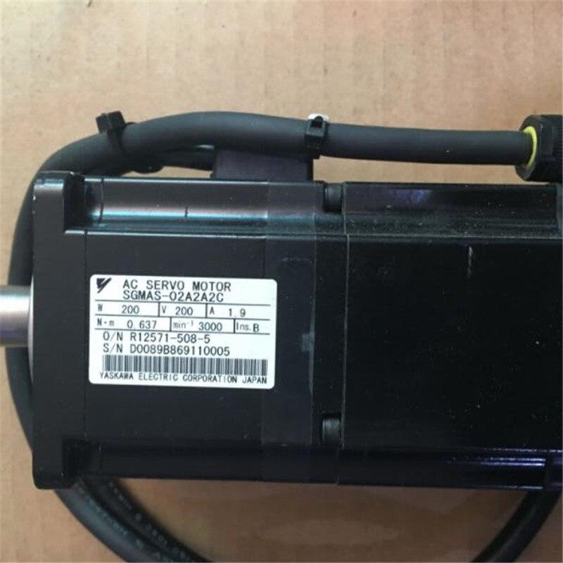 Usado probado funciona SGMAS-02A2A2C Servomotor de CA