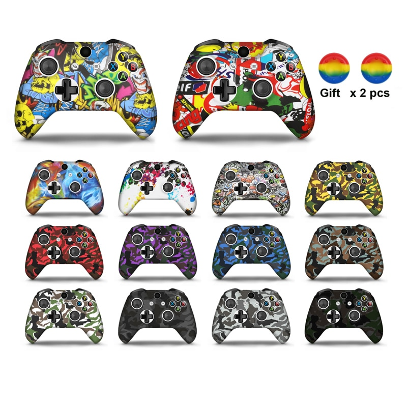 For Xboxs Series S/X Controller Gamepad Silicone Cover Rubber Skin Case Protective For Xboxs One Slim Joystick Thumb Grips Caps