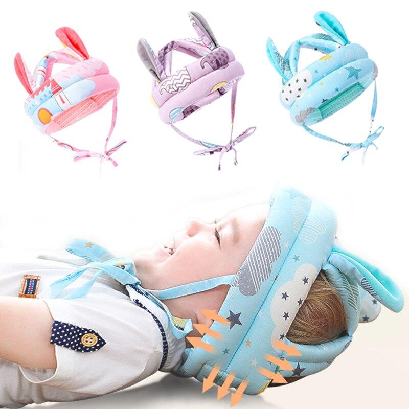 Шапка детская для малыша, защитная шапка от столкновений, детская безопасная шапка для новорожденных, детская шапка кролика