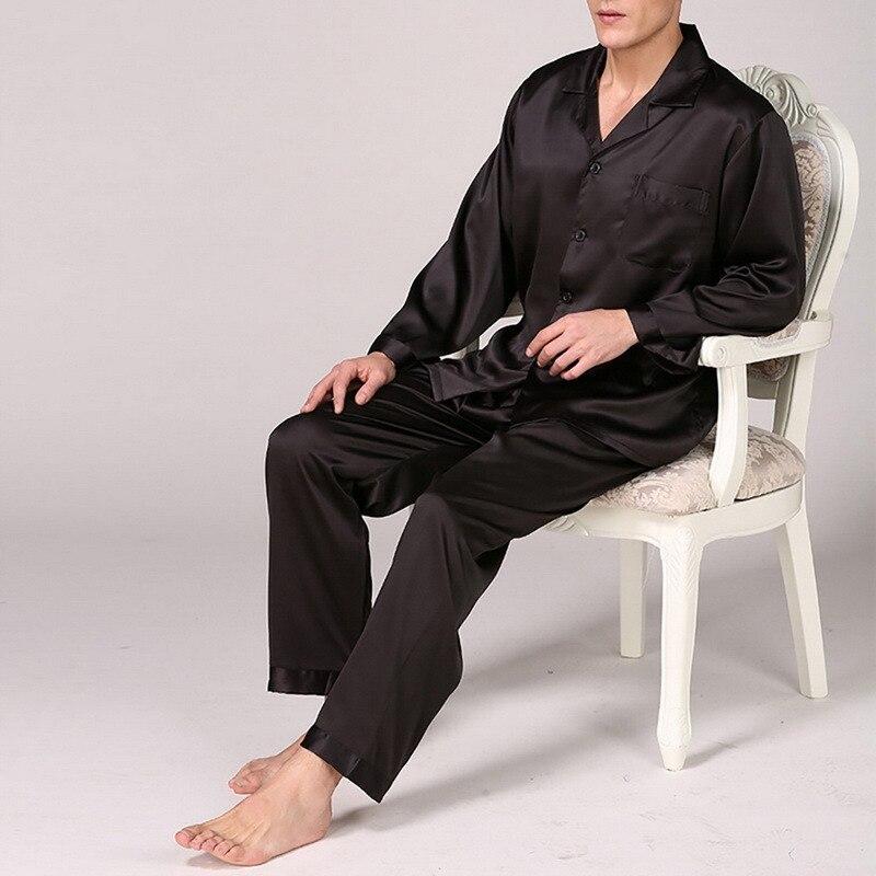 Laamei 2021 мужчины одежда для сна атлас пижамы комплекты длинный рукав осень весна одежда для сна искусственный шелк пижамы костюм мужской домашняя одежда большие размеры