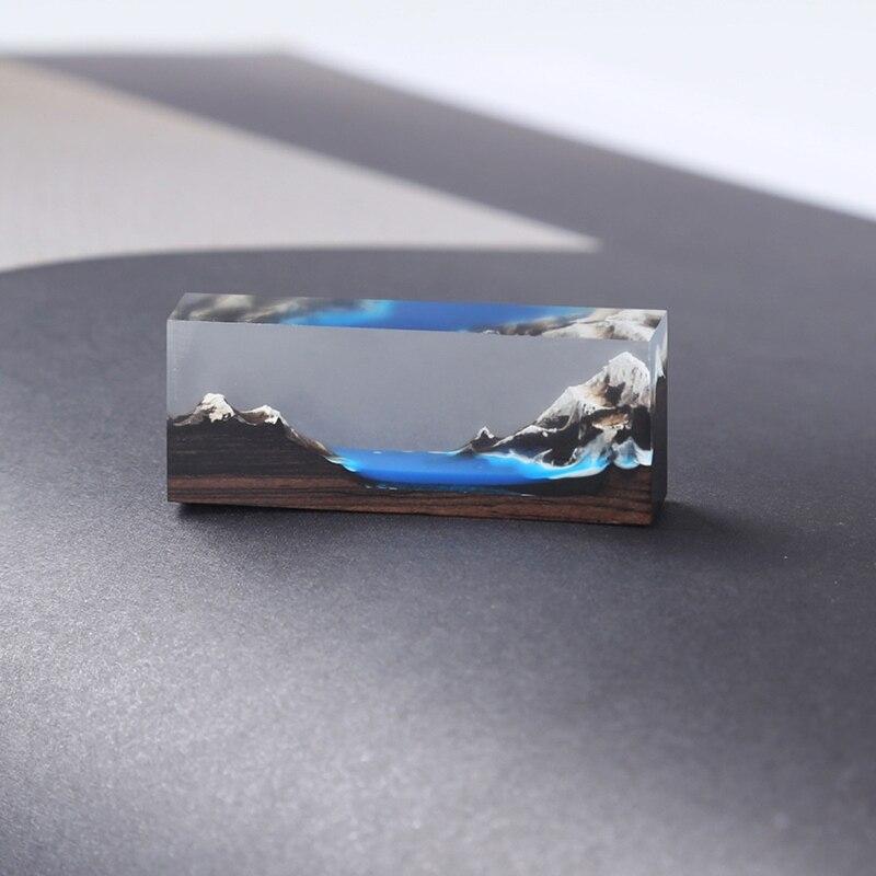 20Pc DIY Sandalwood Unfinished Irregular Wood Pendant Resin Epoxy Mold Art Craft 87HC