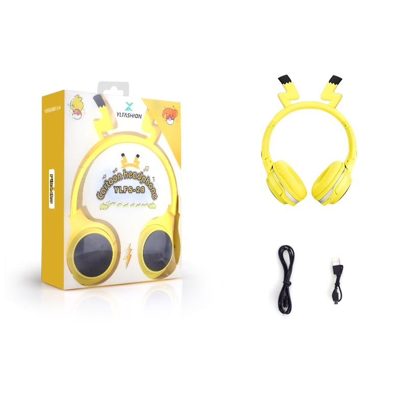 Cute Kids Bluetooth 5.0 Headset 7 Colors LED Headphones support SD Card Audio Cable Headphone for Boy Girl Gift Children enlarge