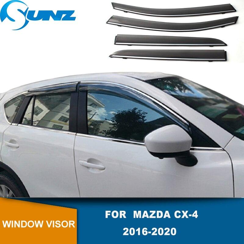 Side Window Deflector For Mazda CX-4  CX4 CX 4 2016 2017 2018 2019 2020 Smoke Window Visors Weathershields Wind Rain Guards SUNZ