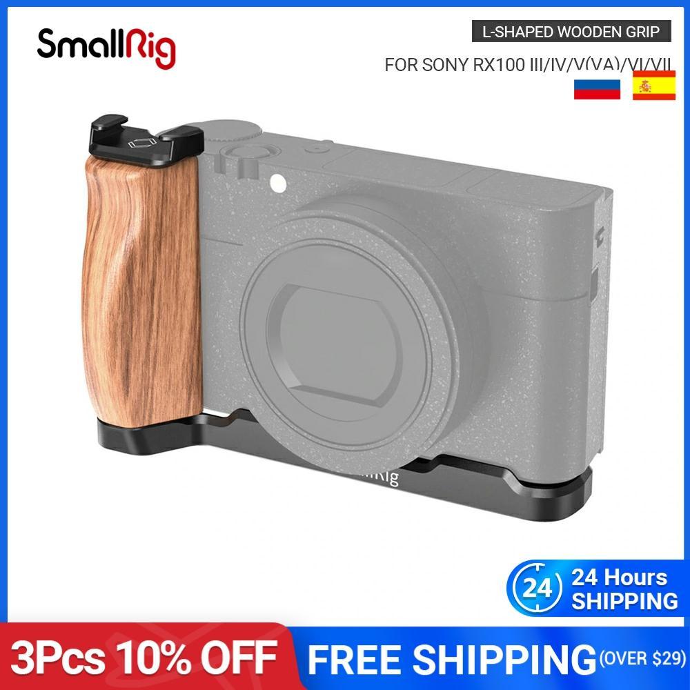 SmallRig RX100 L בצורת סוגר עץ אחיזה עם קר נעל עבור Sony RX100 III/IV/V(VA)/VI/VII שחרור מהיר L צלחת-2438