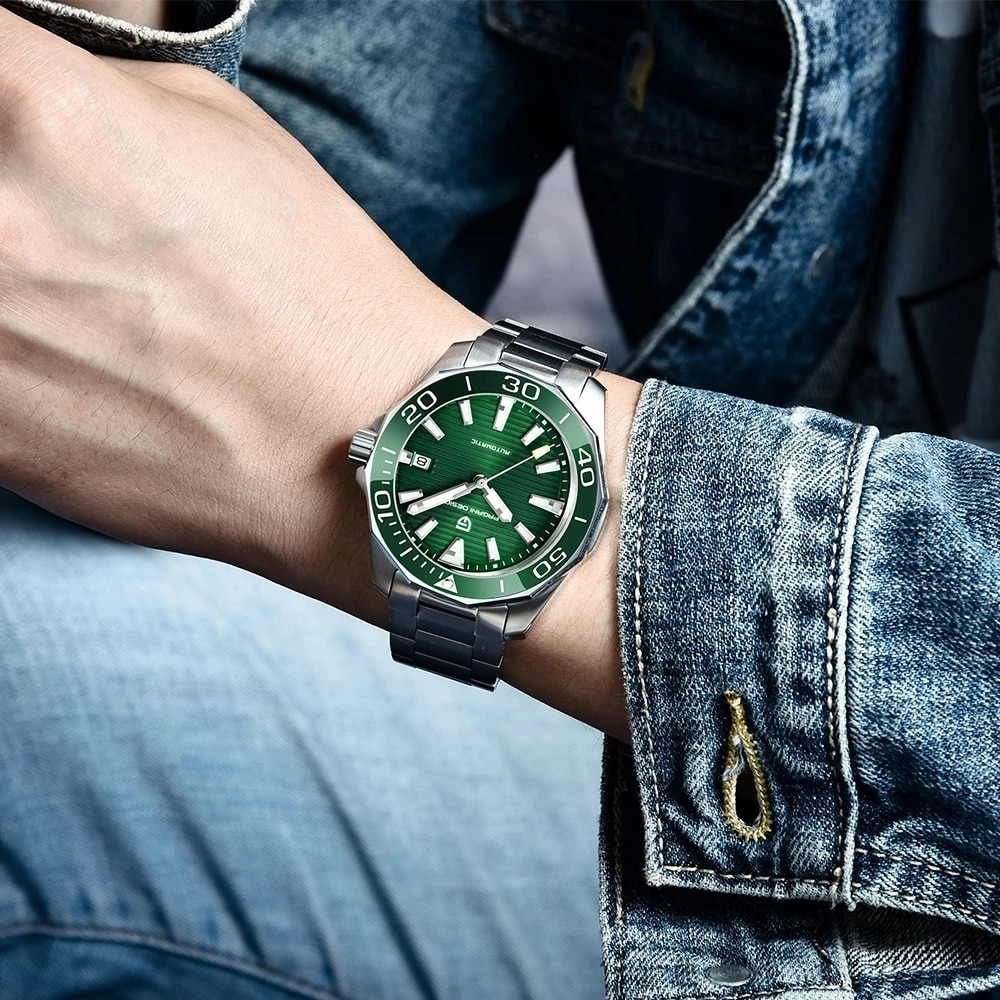 PAGANI DESIGN Brand Men's Mchanical Watches NH35A Waterproof Sports Leather Watch Sapphire Glass Stainless Steel Men Wristwatch enlarge