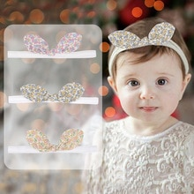 2021  Retro Cute Floral Children's Hairband Cross-Knotted Hair Accessories Baby Three-dimensional Co