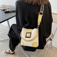popular small bag ins 2021 new fashion broadband messenger bag summer chain bucket bag purses and handbags fashion tote bag