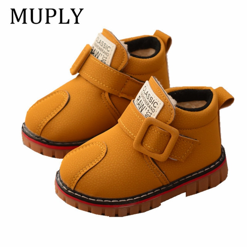 Han Edition Upset the New Children's Cotton Shoes to Keep Warm Winter Sports Boy Ugg Boots 1 to 6 Years of Age