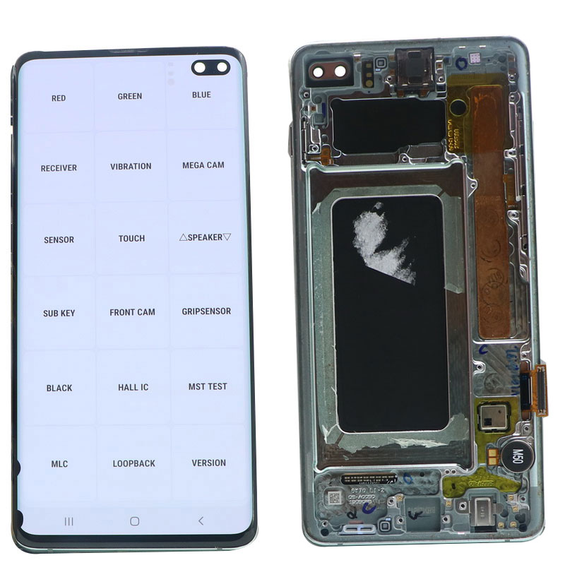 Original S10 LCD For SAMSUNG Galaxy S10 Plus S10+ G975 SM-G9750 G975F LCD Display Touch Screen Digitizer Assembly With defect enlarge