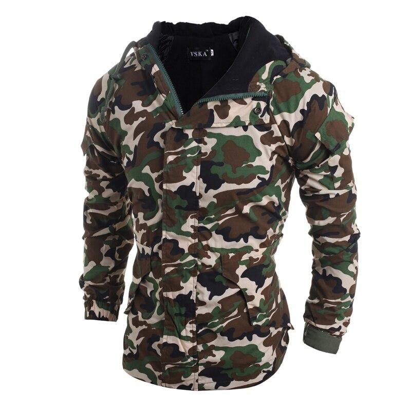 Новое камуфляжное Стильное мужское толстое пальто с капюшоном, модное зимнее пальто в Корейском стиле, хлопковое пальто с капюшоном, модная...