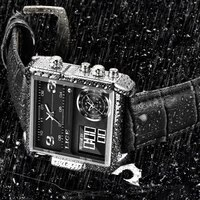 lige 2021 brand men sports watches 3 time zone big man fashion military led watch leather quartz wristwatches relogio masculino