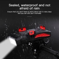 new cycling headlight waterproof bike front light usb rechargeable led bicycle lamp mtb road front flashlight headlamp with horn
