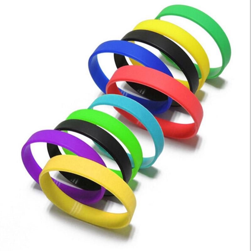 Silicone Bracelets & Bangles Women Fluorescent Rubber Fitness Wristband Bracelet Sports Best Friend Printed Letters Luminous