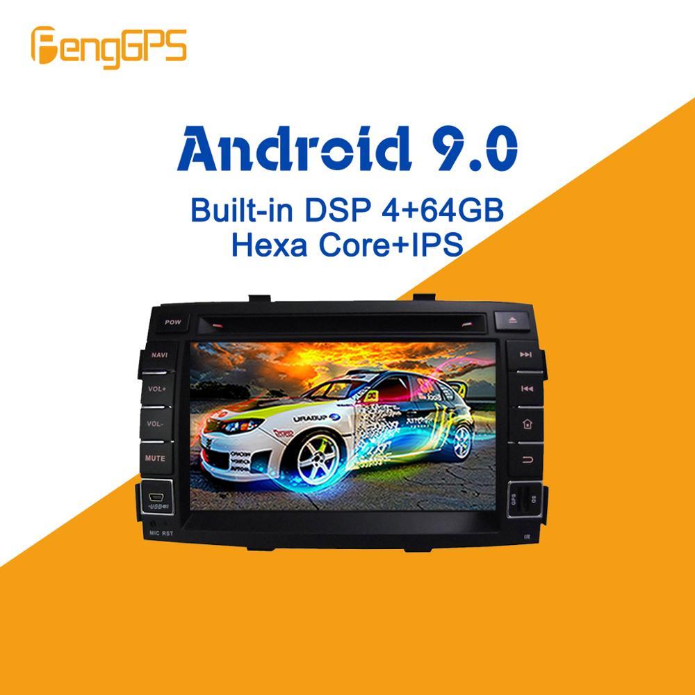Android 9 PX6 DSP Für kia SORENTO 2010 2011 2012 Auto Multimedia Stereo Player DVD Radio upgrade GPS Navigation Kopf einheit