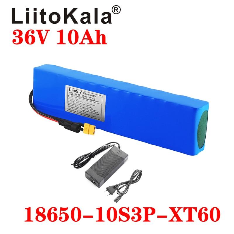 LiitoKala 36 فولت 10Ah 600 واط 10S3P بطارية ليثيوم أيون حزمة 15A BMS ل شاومي mijia m365 برو ebike دراجة سكوتر XT60 T التوصيل