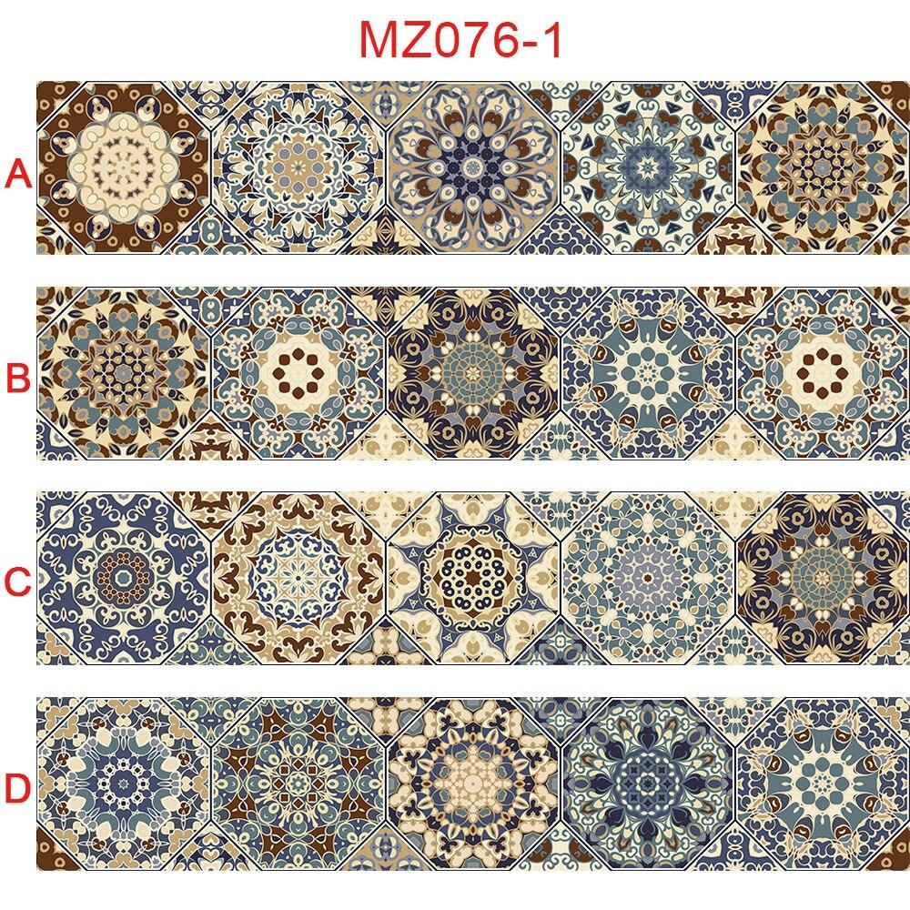 Tira de azulejos hexagonales Retro de 10/15/20/30cm, pegatinas de pared para baño, cocina, nevera, decoración de puerta, papel tapiz, Mural artístico autoadhesivo