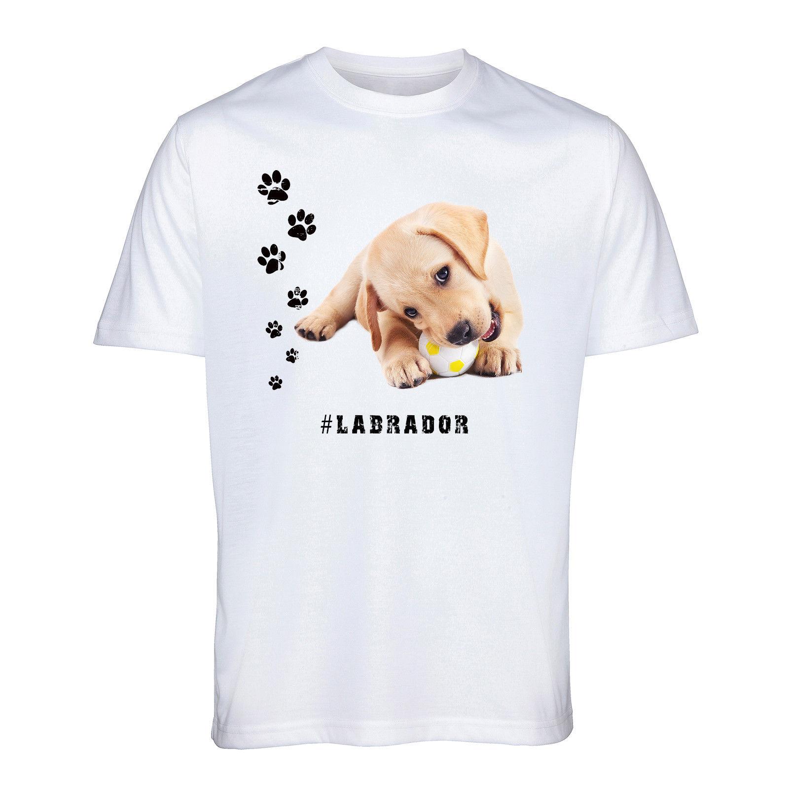Camiseta de Labrador Retriever Hashtag perro raza Animal mascota hombres mujeres divertido regalo camiseta de dibujos animados hombres Unisex nueva camiseta de moda