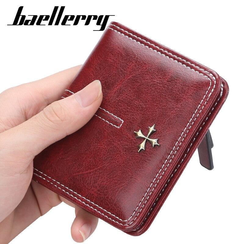 Monedero para mujer Baellerry monedero dinero bolsa Cartera de diseñador bolso corto PU mujeres carteras de diseñador de marca famosa de las mujeres 2020