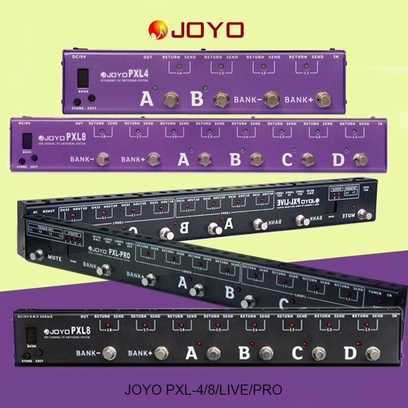 JOYO guitarra programable PXL8 PXL4 PXL-Live PXL-Pro Control de Pedal de efecto de guitarra eléctrica Sistema de agrupamiento programable