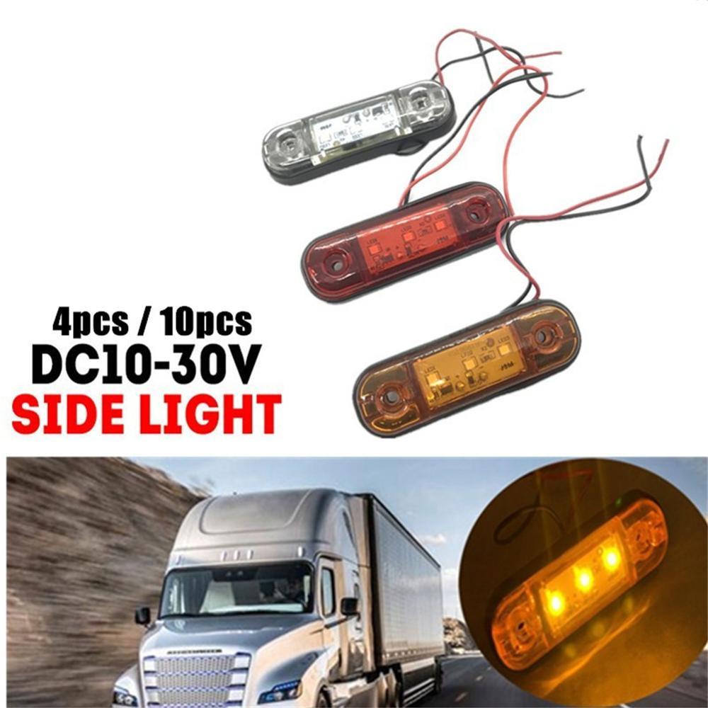 4/10 шт автомобильные аксессуары 24V светодиодный свет 15 светодиодный s боковые габаритные световые сигнальные лампы для грузовик пикап