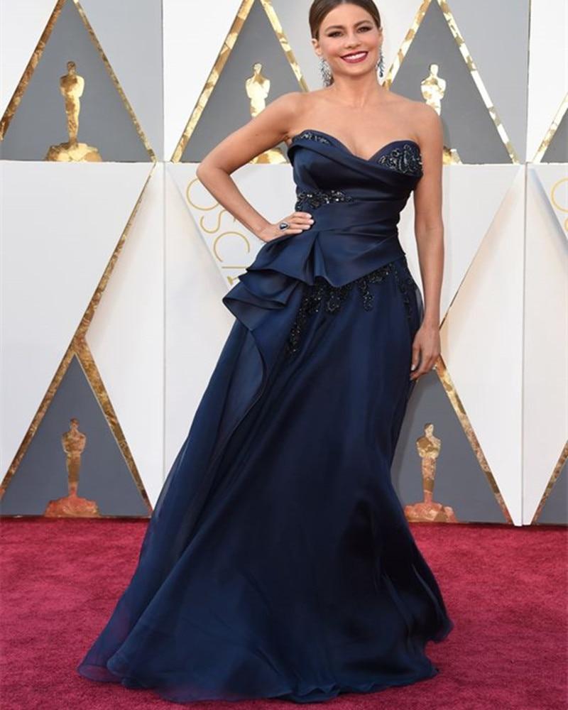 Frete grátis Jennifer Lawrence Oscar robe de soirée كوكتيل فساتين querida beading cristal vestido de noite Vestidos de Celebridades