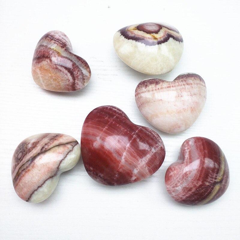 Piedra de cerdo, corazón, piedra natural, cristales minerales, cuarzo, reiki, piedras preciosas,...