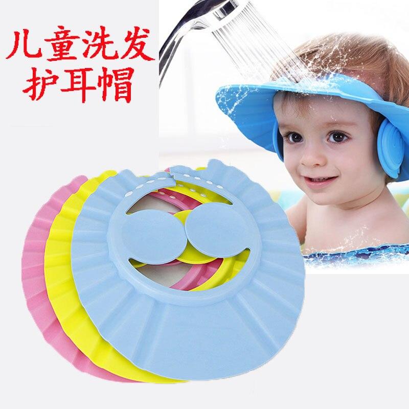 Champú para bebé, ducha, baño, protección, gorro suave, sombrero para baño de bebé, escudo para el pelo, bebés, gorro de baño para niños, sombrero para niños